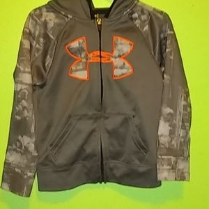 Other - Under Armour Zip Up Hooded Sweatshirt Size 5